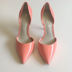 Peach Patent Leather Stilettos